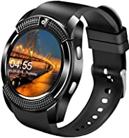 Smart Watch,Bluetooth Smartwatch Touch Screen Wrist Watch with Camera/SIM Card Slot,Waterproof Smart Watch Spo