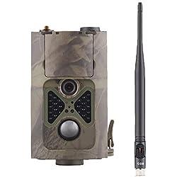 WYYHAA Caméra de Chasse/ 16MP Trail 1080P avec Piège de Mouvement Infrarouge Caméra Jeu Activated Vision Nocturne jusqu'à 65 pi / 20M et IP65 Vaporiser étanche pour la Surveillance de la Faune