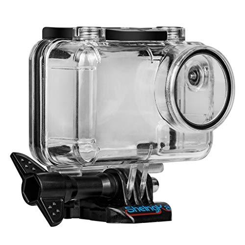 .◕‿◕.Sport Kamera wasserdichte Gehäuse Fall Shell,Tauchen 45M für DJI Osmo Action,Wasserdicht Gehäuse Unterwassergehäuse Schützende Gehäuse Kasten,1 X Fall +1 X Basis +1 X Lange Schraube (klar) Wasserdicht Stereo-gehäuse
