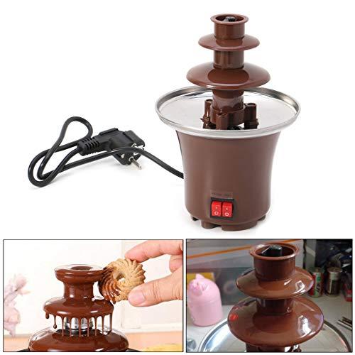 Nysunshine - Mini fontana per fonduta di cioccolato, in acciaio INOX