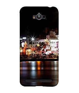 PrintVisa Designer Back Case Cover for Asus Zenfone Max ZC550KL :: Asus Zenfone Max ZC550KL 2016 :: Asus Zenfone Max ZC550KL 6A076IN (Ganga Flowing Across Haridwar)