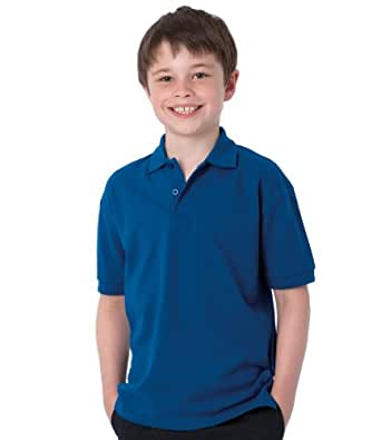Jerzees kids hardwearing polo in black age 3-4