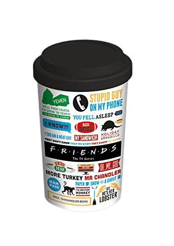 Friends - Tazza di ceramica da viaggio, iconografica, multicolore