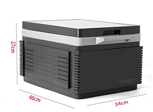 Preisvergleich Produktbild SZXC 12L Bluetooth lithium battery Car with refrigerator Car refrigerator Refrigeration heating dorm room Mini Small Cold and warm box 46 * 34 * 27cm Power 60W , space ash [built in batteries, 12l, home dual-use]Convenient