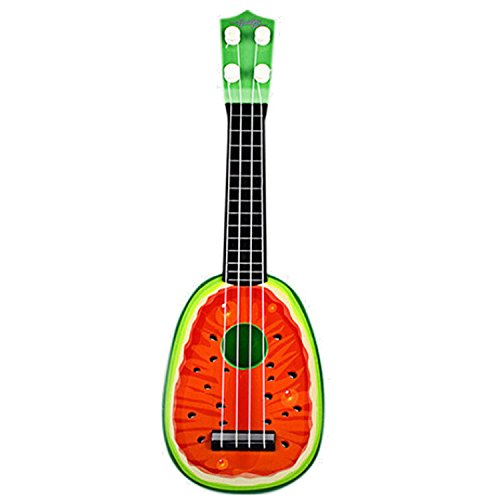 Divertido mini estilo de fruta niños guitarra ukelele juguete puede jugar niños educativos aprendizaje instrumentos musicales juguete