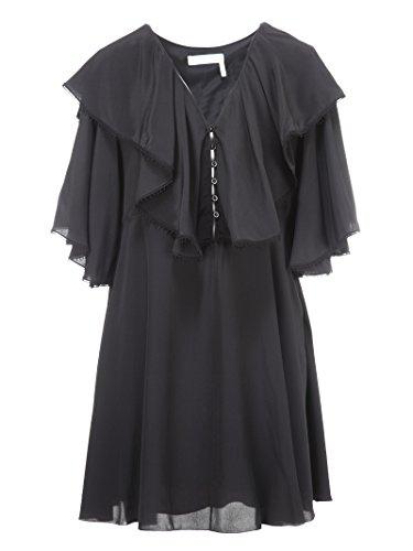 Chloé Damen 18Sro2518s004nr001 Schwarz Seide Kleid (Seide Schwarzer Chloe)