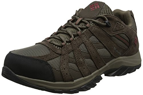 Columbia Canyon Point Waterproof, Zapatillas de Senderismo, Impermeable para Hombre, Marrón (Mud, Red Element), 43 EU