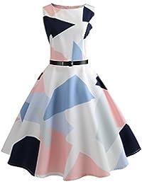 aa4cfba1229e Amazon.it  vestiti anni 50 - Bianco   Vestiti   Donna  Abbigliamento