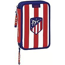 Atletico De Madrid - Plumier doble pequeño 34 piezas de atletico de madrid (Safta 411758054)