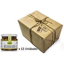 Pack 12 unidades Aceitunas Machadas Aliñadas Extremeñas - Envases PET 550 g Peso neto ud. Envío Gratis