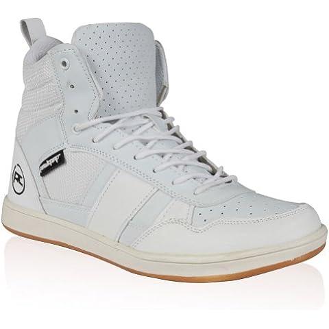Rawcraft - Zapatillas de cuero para hombre multicolor Negro y blanco