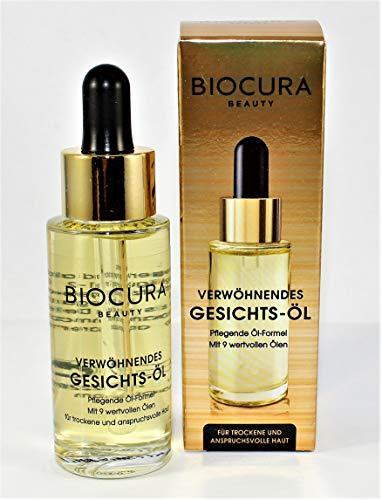 BIOCURA Beauty verwöhnende Gesichts Öl 30 ml für Trockene/Reife Haut -