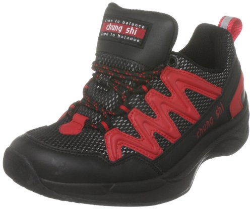 Chung Shi Balance Step Magic schwarz/rot Damen 9101000-5,0, Damen Sportschuhe - Walking, schwarz, (black/red), EU 38, (US 7), (UK 5)