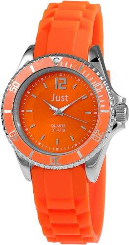 Just Watches 48-S3857-OR - Orologio da polso da donna, cinturino in caucciù colore arancione