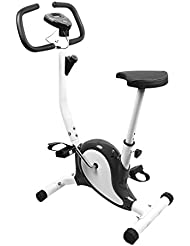 COMOTS Quiet Training Exercise Bike Indoor Spin Bike Height Adjustable LCD Display Aerobic Fitness Training Bicycle Cycle