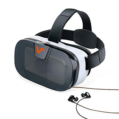 Vox VR Weihnachtsgeschenk Videobrillen 3D Headset mit Einstellbar Brennweite 3D VR Brille Einstellbar Virtuelle Realität Box Brille Virtual 3D Reality Glasses VR World Head Mounted 3D Filme Für Android & iOS Empfohlene Größe ist 4-6,5 Zoll