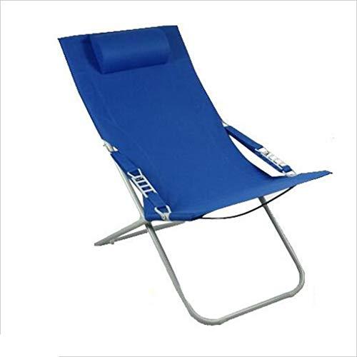 JTWJ Renfort de chaise de plage extérieure chaise simple chaise pliante fer + chaise en toile (Couleur : Green)
