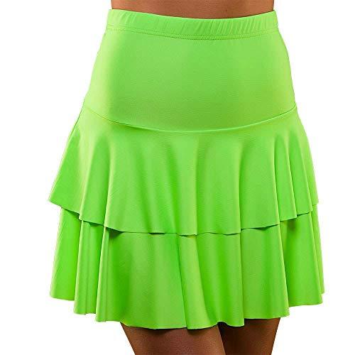 Unbekannt 80's Neon Ra Ra Skirt Green Small and Extra Small for Fancy Dress - Großbritannien Fancy Dress Kostüm