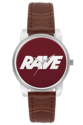 Women's Watch, BigOwl Rave Typography Designer Analog Wrist Watch For Women - Gifts for her dials