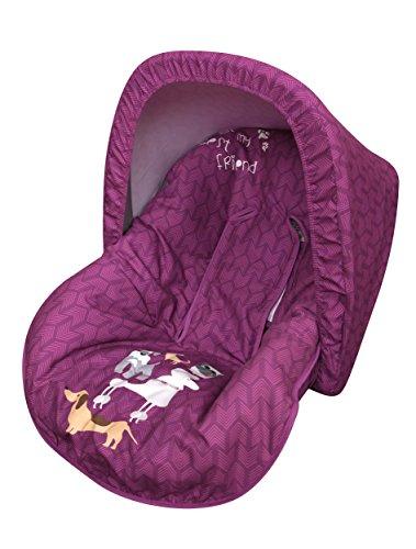 Babyline Dogs - Colchoneta para silla grupo 0, color rosa