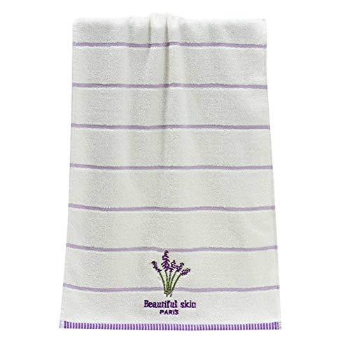 LIUHUAITONGS Handtuch Badetuch Baumwolle Stickerei Lavendel Aromatherapie Soft Bath Hand Gesicht Handtuch Blatt Set 34 X 74Cm Neue Hochwertige Badetücher, Gelb - Gesicht, Aromatherapie-dusche