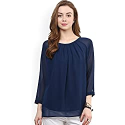 Swagg India Women's Body Blouse Top (BSGT-M-14_Blue)