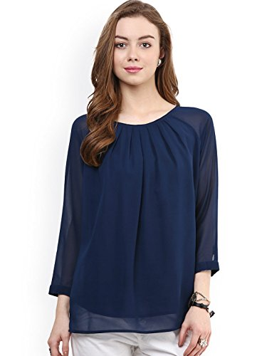 Swagg India Women's Body Blouse Top (BSGT-L-14_Blue)