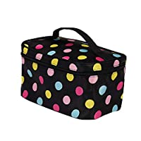 Cebbay Ladies Fashion Letter Cosmetic Bag,Square Square Travel Portable Storage Wash Bag