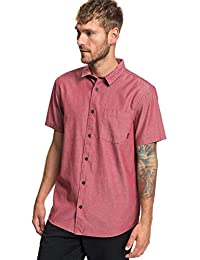 f89e71b0f5 Quiksilver Bobs Back - Short Sleeve Shirt for Men - Short Sleeve Shirt - Men  Brick