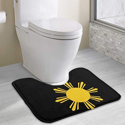 Vidmkeo colory Philippine Flag Toilet Carpet Anti-Slip Contour Bath Rug Carpet Mat for Toilet 19.2