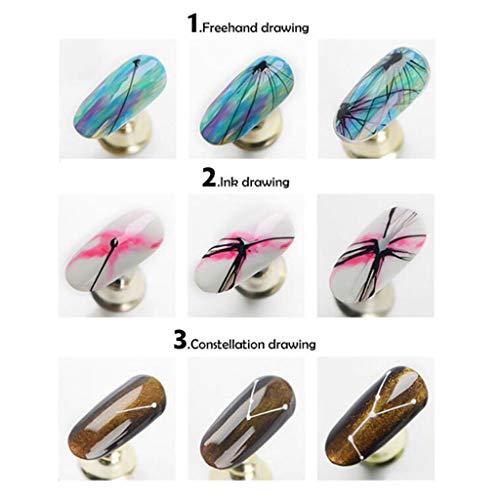 Mitlfuny -> Gesundheit und Schönheit -> Beauty Tools,1 Stücke 3D Gravierte Blume Acryl Nagelaufkleber Nail Sticker Geprägte Blume Wasser -