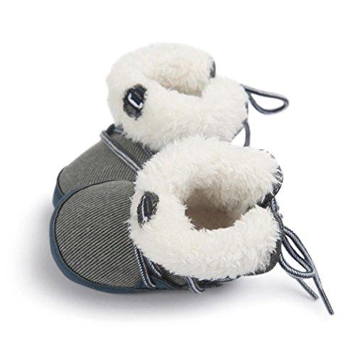 Chaussures Bébé,Fulltime® Bottes Baby Soft Sole Bottes de neige souple tout-petits Bleu