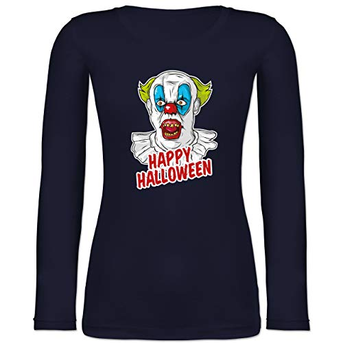 Shirtracer Halloween - Happy Halloween - Clown - M - Marineblau - BCTW071 - Langarmshirt ()