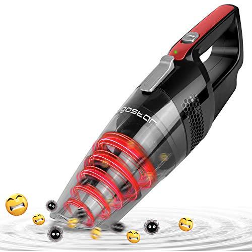 Aigostar Mars 33LBY Aspirateur à main cyclonique sans fil, aspiration à sec et humide, batterie...