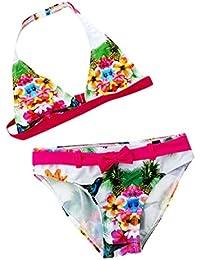 a1edc46d0912 POIUDE Maillot de Bain Fille Impression Deux PièCes Maillot de Bain Bikini  Tankini Vacances 5-