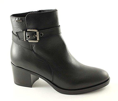 Igi&Co 48640 Chaussures Noires Femme Cheville Zip Bottes de Cuir Nero