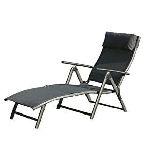 suntime havana foldable reclining sun lounger black. Black Bedroom Furniture Sets. Home Design Ideas