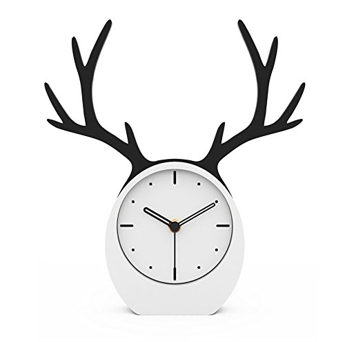 Bing BINGHirsch Kopf Uhr Uhr Wohnzimmer kreative Desktop kleine Uhr Desktop Uhr modernen minimalistischen Nordic personalisierte...