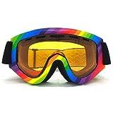 ADXD Gafas de Esquí para Hombres Y Mujeres, Antivaho, Gafas de Sol con Lentes Protectoras, Lentes Dobles para Esquiar, Snowboard Esquíes Alpinos -6 Colores A Elegir,Rainbow