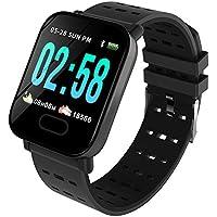 DGRTUY - Reloj Inteligente con Bluetooth y tensiómetro, Color Negro