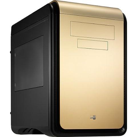 Aerocool DS Cube - Caja de ordenador (Cubo, PC, SGCC, Fondo, 1x 200 mm, 120, 140, 200 mm) Negro, Oro