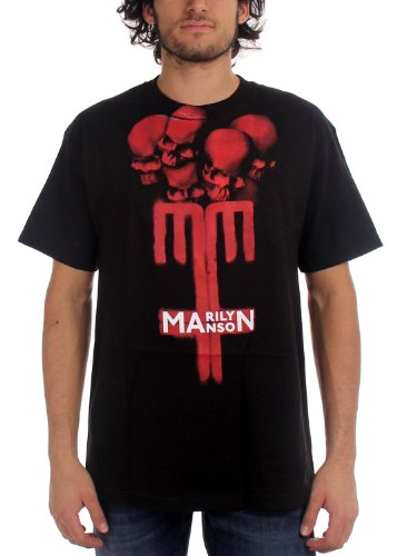 Crâne de Marilyn Manson de la Croix-T-shirt, Medium, Black