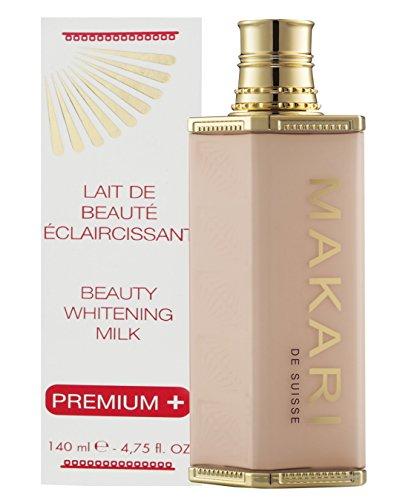 Makari Classic Premium + Beauty Skin Whitening Milch 4.75 fl.oz - Intensive Aufhellung, Aufhellung & Toning Körperlotion - Tägliche Feuchtigkeitsbehandlung für dunkle Flecken & Akne-Narben - Makari De Suisse