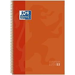 Oxford 400040982 - Bloc Oxford Cuadriculado A4 80Hojas Tapa Dura, Naranja