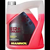 MANNOL 5L Coolant Antifreeze G12+ RED Ready Mixed -30°C / +125 German Hi