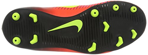 Nike Jr Mercurial Vortex Iii Fg, Chaussures de Football Mixte Bébé, Rouge, UK Orange - Naranja (Total Crimson / Vlt-Blk-Pnk Blst)