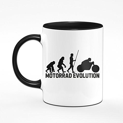 Motorrad Tasse - Motorrad Evolution - Geschenk für Motorradfahrer & Motorradfan - Geschenk für Biker - 2