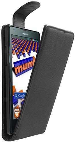 mumbi Flip Case für Huawei Ascend G700 Tasche 700 Etui