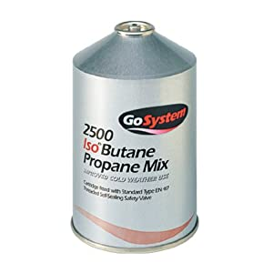 41YlZ9M8AnL. SS300  - GoSystem Butane Propane Threaded Mix Gas Cartridge - Silver, 445 gram