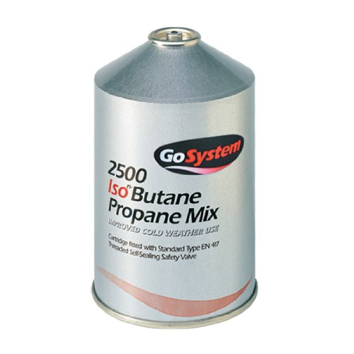 41YlZ9M8AnL. SS500  - GoSystem Butane Propane Threaded Mix Gas Cartridge - Silver, 445 gram